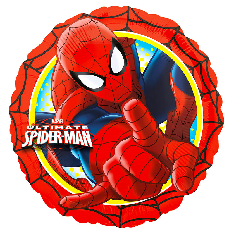 Ballon Spiderman rond