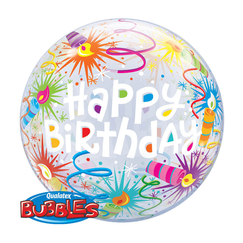 Ballon Bubble Happy Birthday Artifices