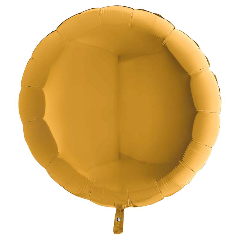 Ballon Mylar Rond Or