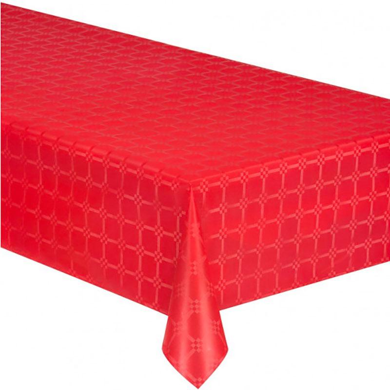 Nappe rôle 1,18x10m damassé gravé points rouge 0,63 eur//m²