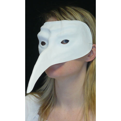 Loup Plastique Blanc - Long Nez Pointu
