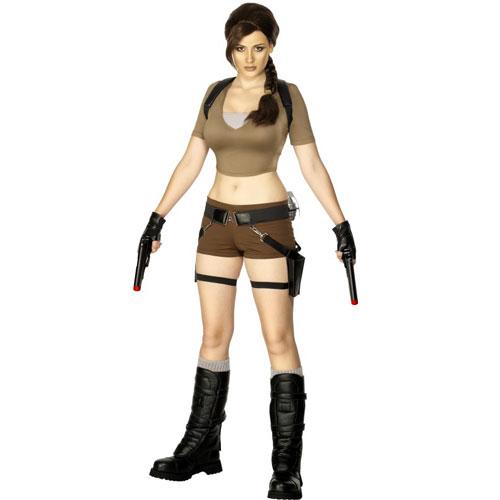 D guisement lara croft femme ballons gogo - Tomb raider deguisement ...