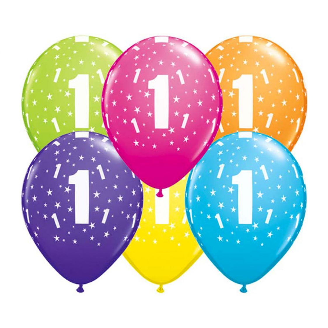 Ballon qualatex 1 an assortiment tropical - Image ballon anniversaire ...
