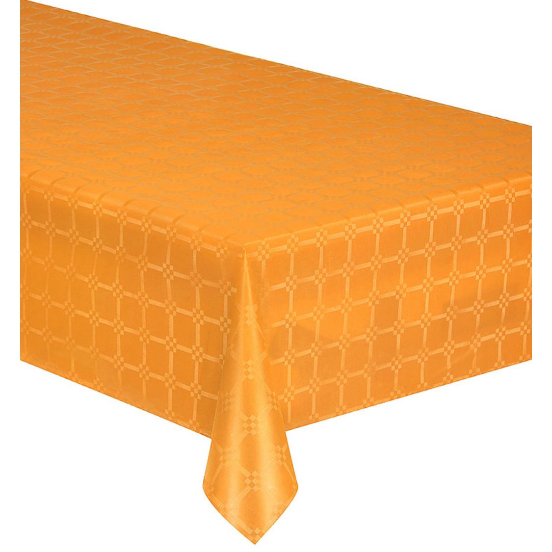 Nappe Papier Damassée couleur Orange 6m x 1m20