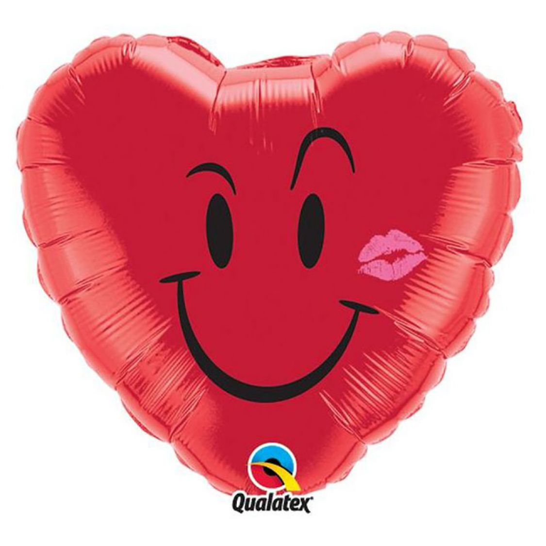 Ballon Smiley Coeur Rouge Kiss