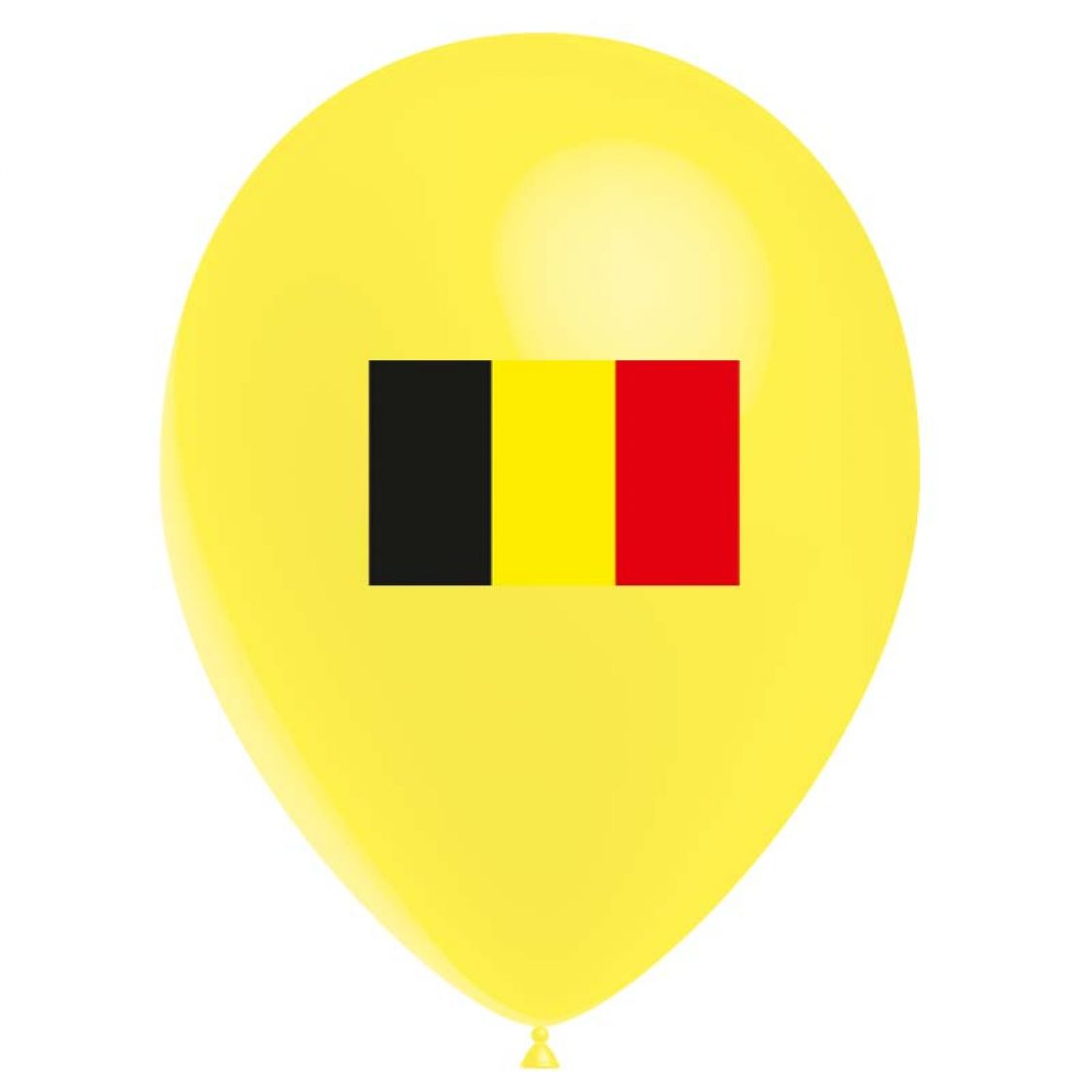 Ballon drapeau Belgique (latex)