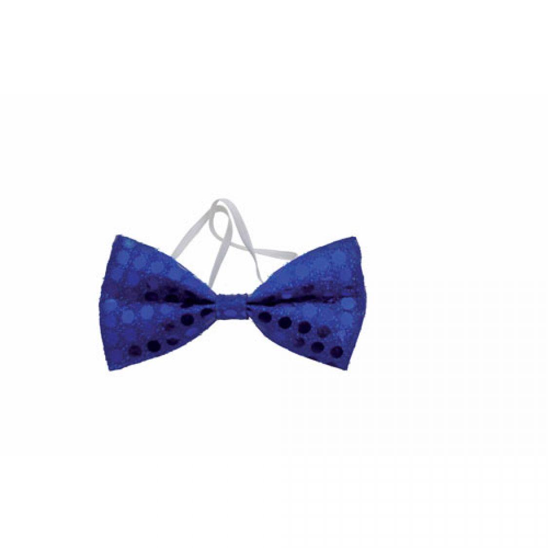 descriptif noeud papillon sequins bleu. Black Bedroom Furniture Sets. Home Design Ideas