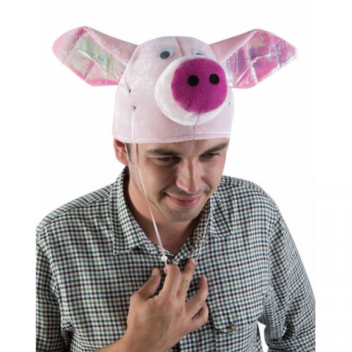 Descriptif du chapeau velours t te de cochon avec oreilles 39 volantes 39 - Tete de cochon a colorier ...