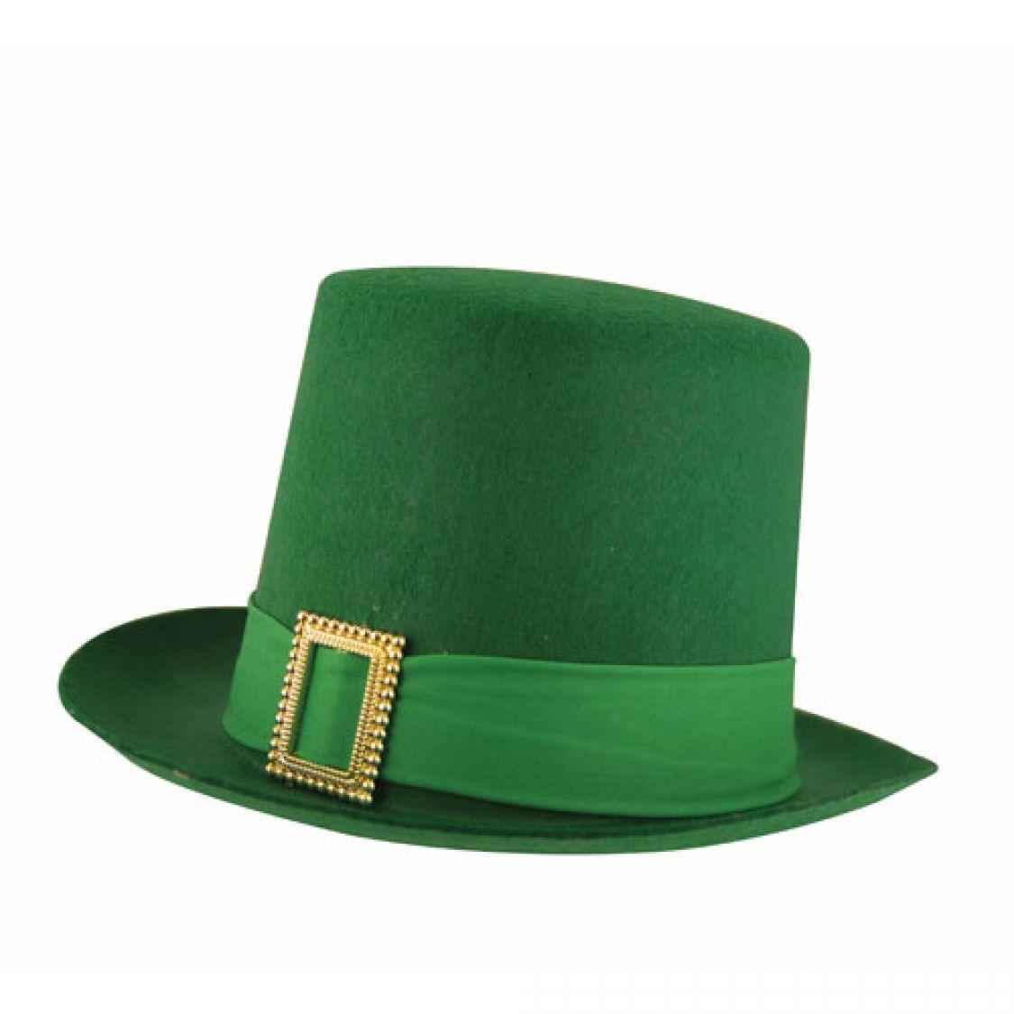 chapeau feutre saint patrick haut de forme lutin vert. Black Bedroom Furniture Sets. Home Design Ideas
