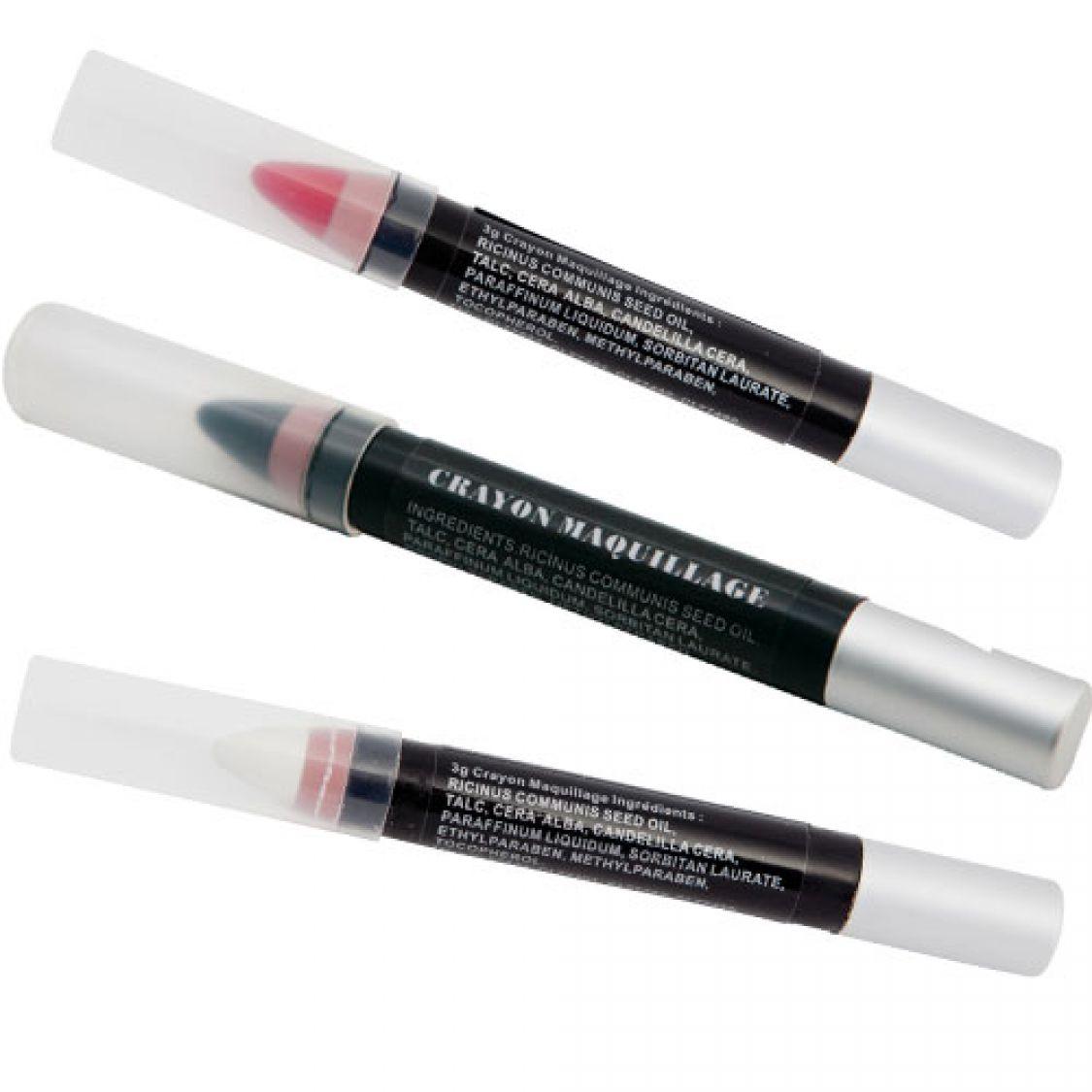 crayon maquillage 3 coloris. Black Bedroom Furniture Sets. Home Design Ideas