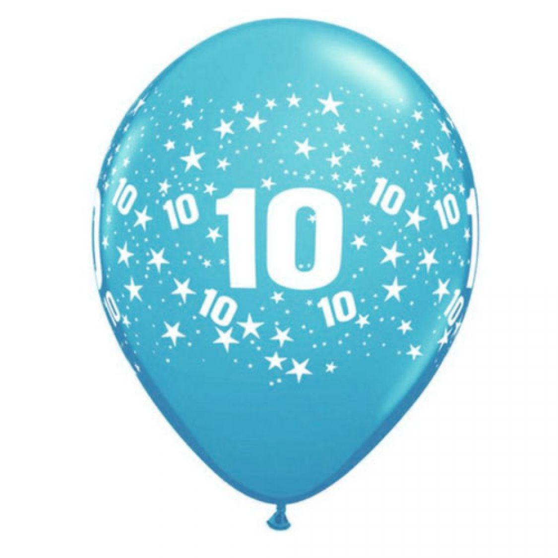 Ballon 10 ans qualatex assortiment tropical - Image ballon anniversaire ...