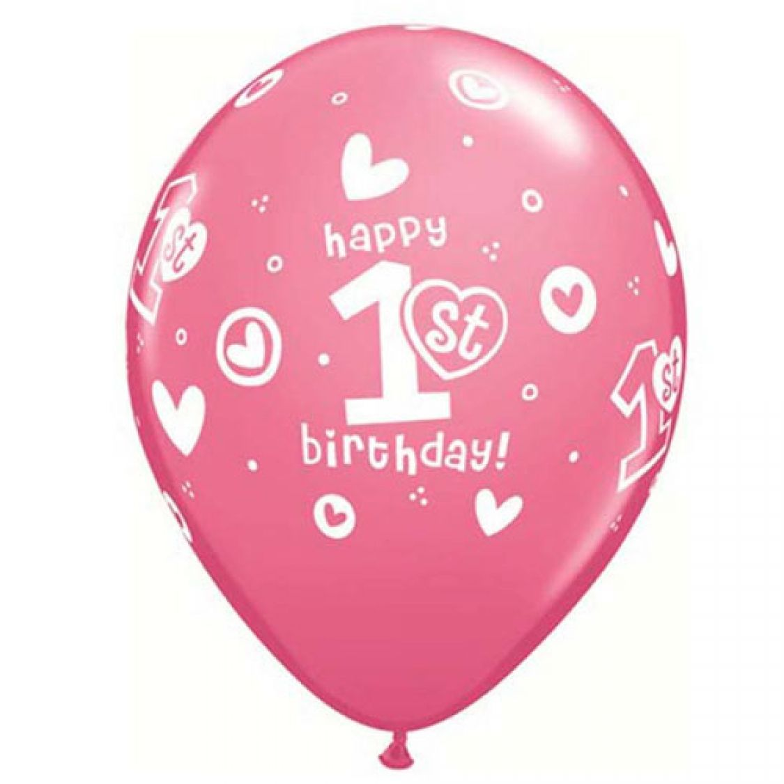 ballon 1er anniversaire fille qualatex. Black Bedroom Furniture Sets. Home Design Ideas