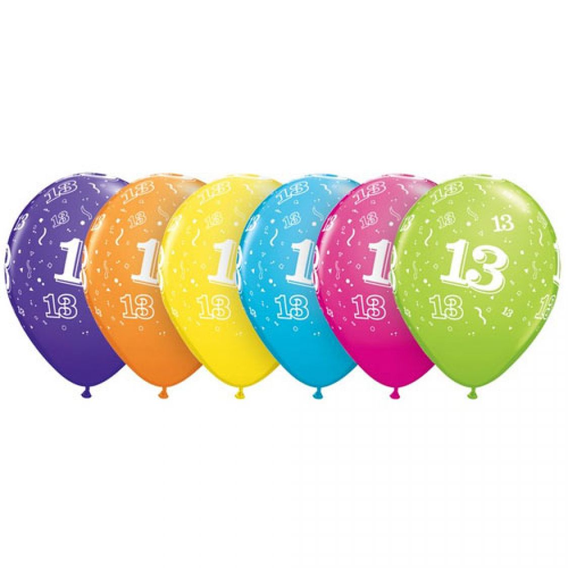 Ballon qualatex 13 assortiment tropical - Image ballon anniversaire ...