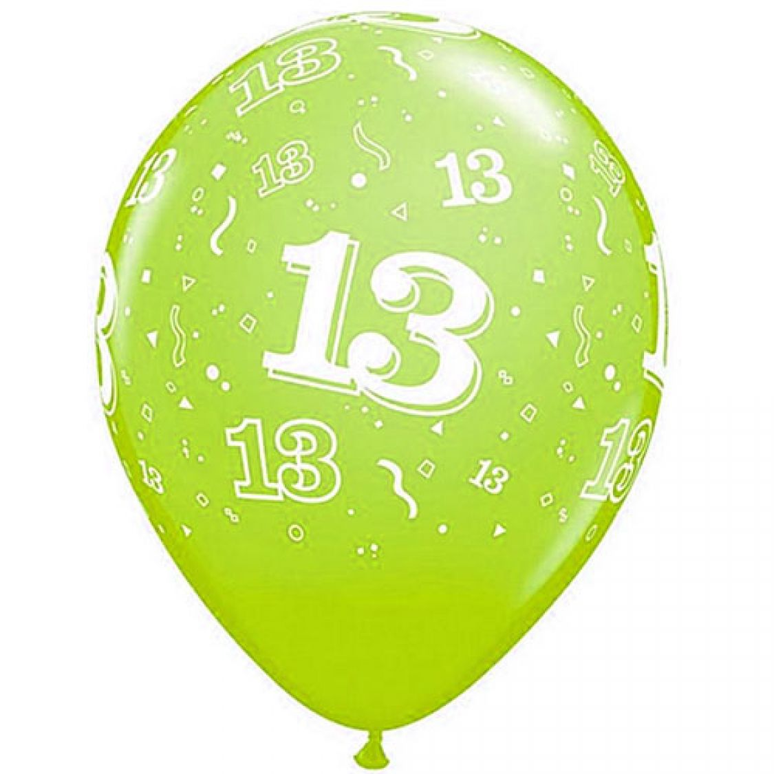 Ballon qualatex 13 ans assortiment tropical - Image ballon anniversaire ...