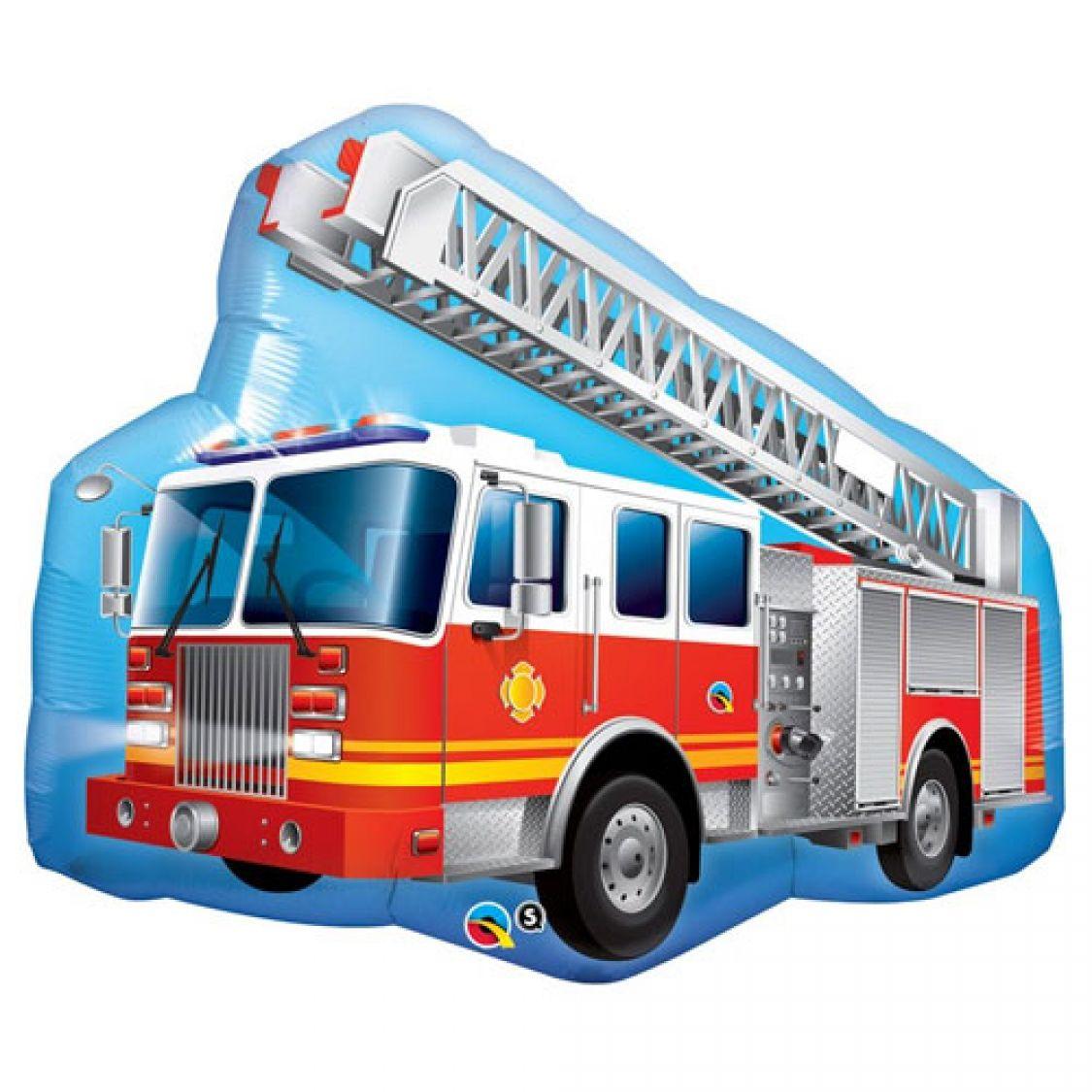 ballon camion de pompier. Black Bedroom Furniture Sets. Home Design Ideas