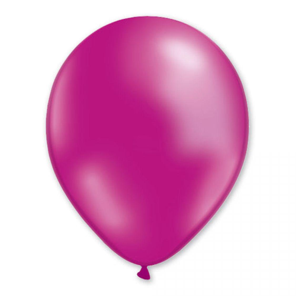 Ballon fushia métal