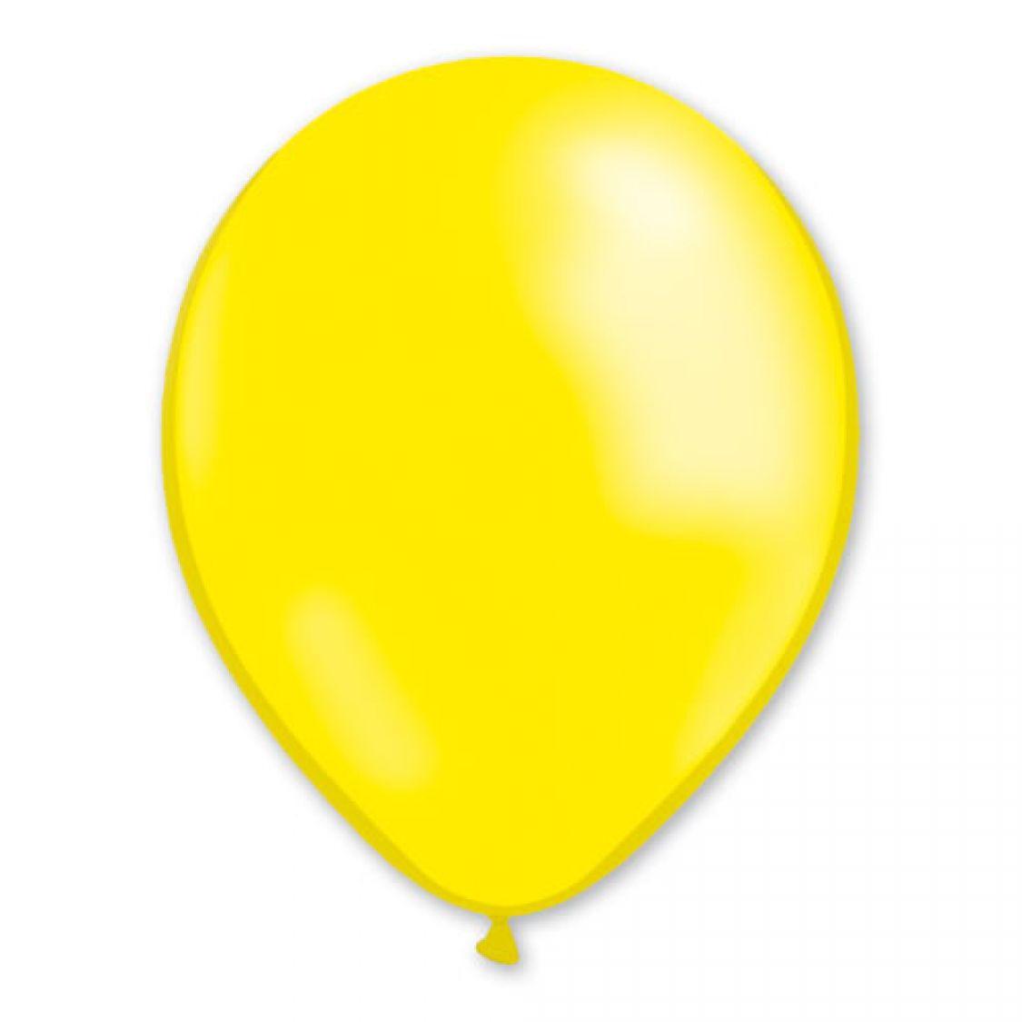 Ballon jaune métal