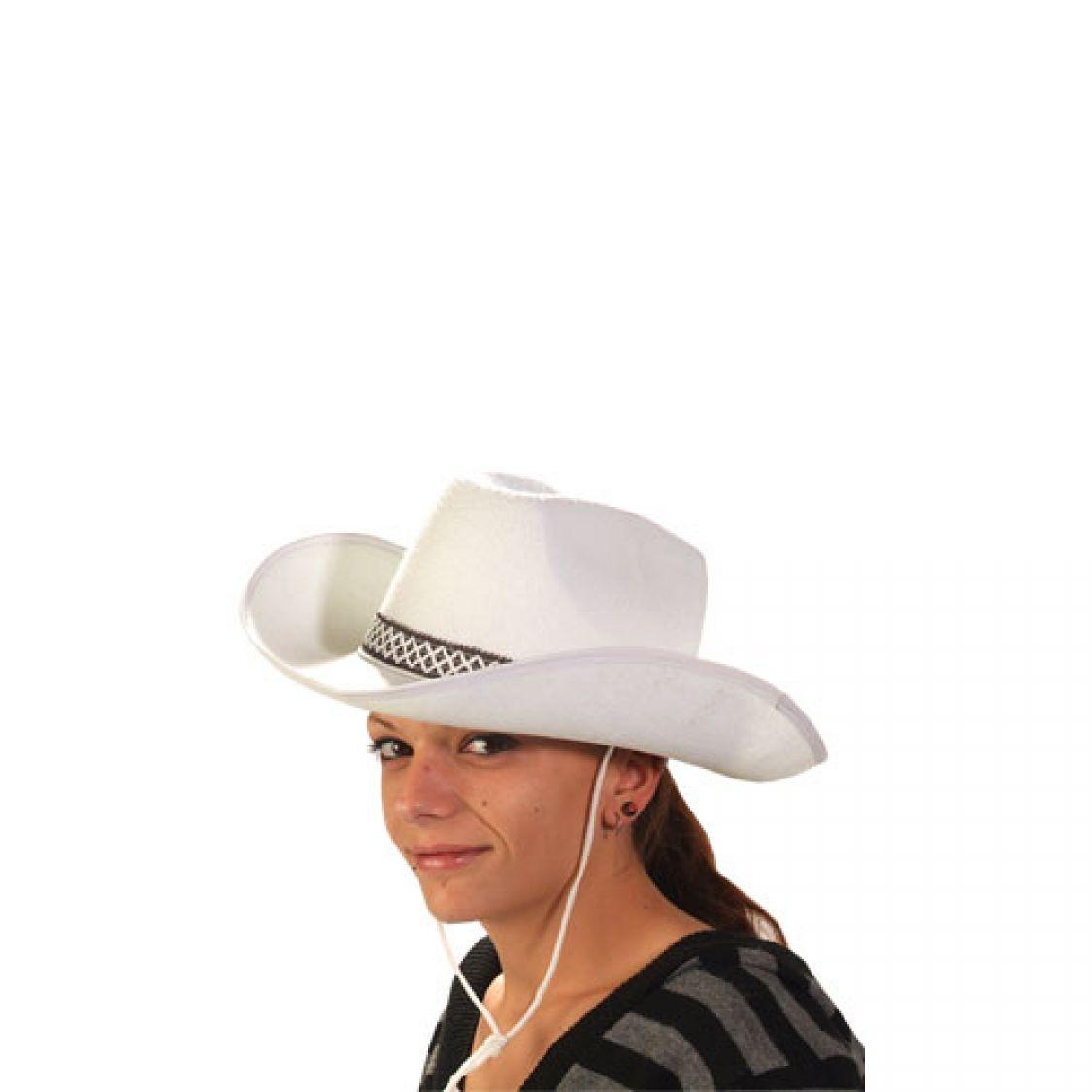 chapeau feutre cow boy blanc. Black Bedroom Furniture Sets. Home Design Ideas