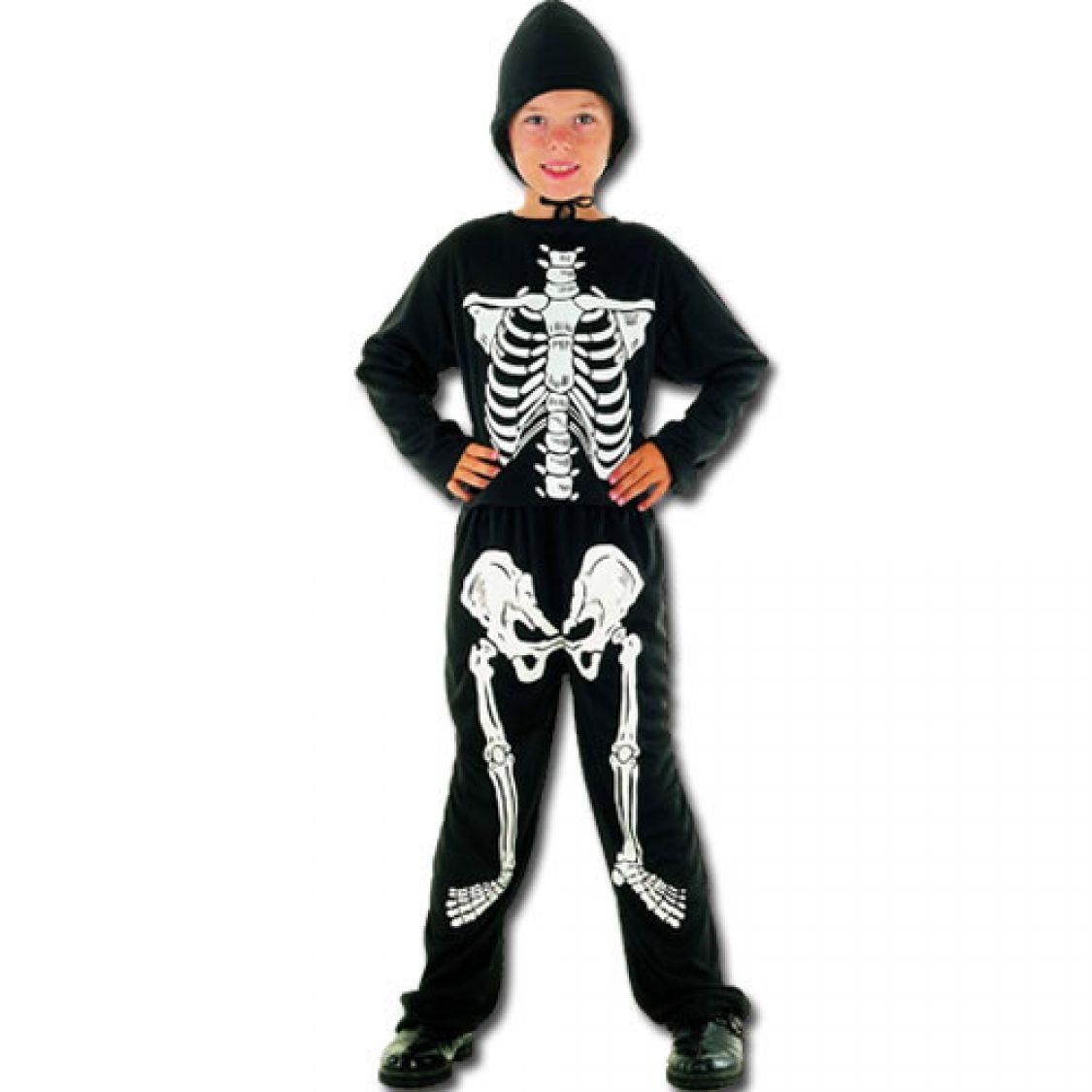 d guisement squelette avec capuche gar on. Black Bedroom Furniture Sets. Home Design Ideas