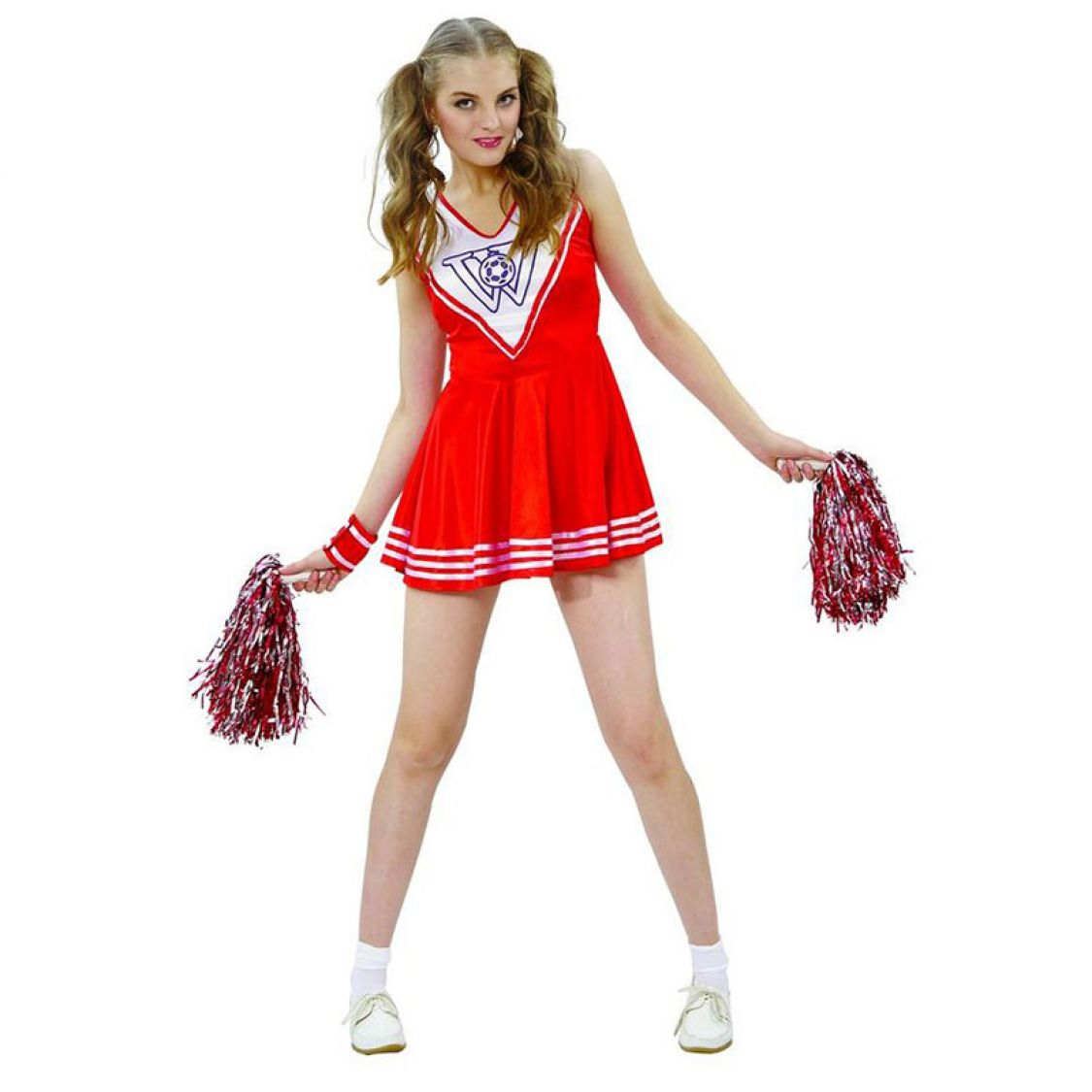 D guisement pom pom girl rouge femme - Deguisement halloween ado ...