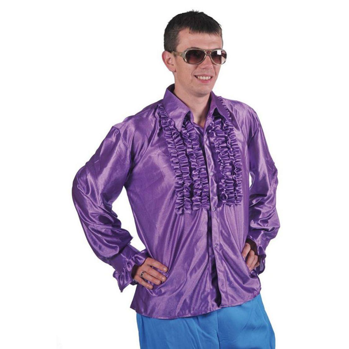 chemise disco homme frou frou violette. Black Bedroom Furniture Sets. Home Design Ideas