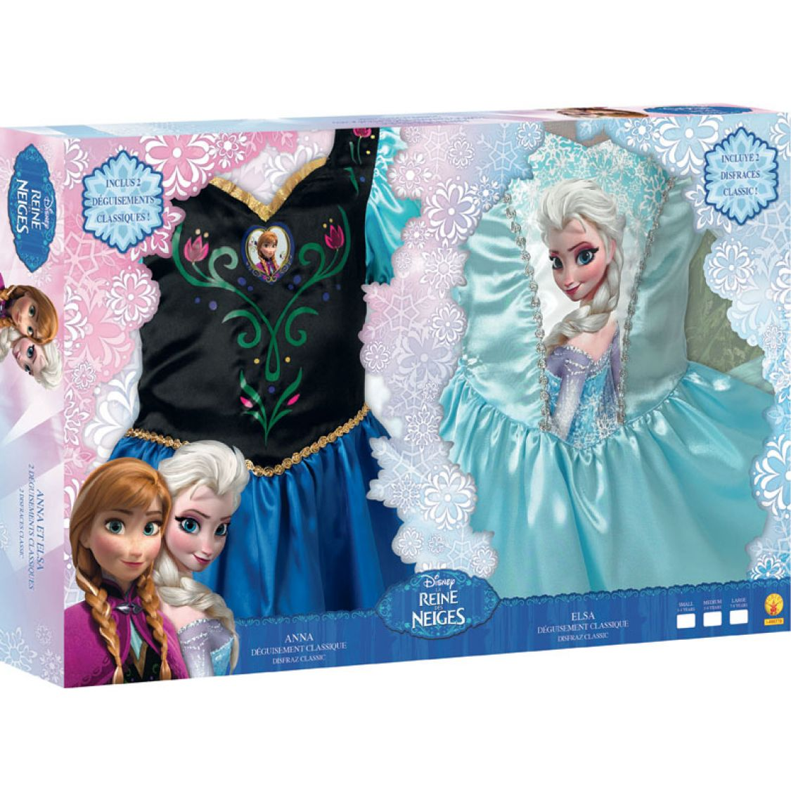 D guisements anna et elsa reine des neige boite - Reine de neige 2 ...