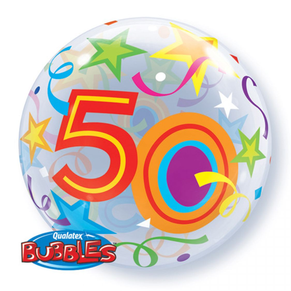 Ballon Bubble Chiffre 50 Anniversaire