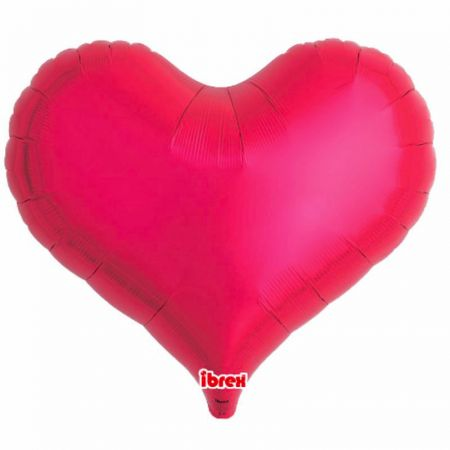 Ballon Mylar Coeur Jelly Rouge