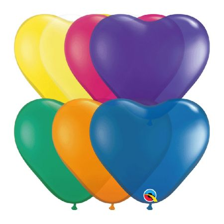 Ballon Coeur Assortiment Jewel Qualatex