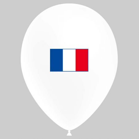 Ballon drapeau France (latex)