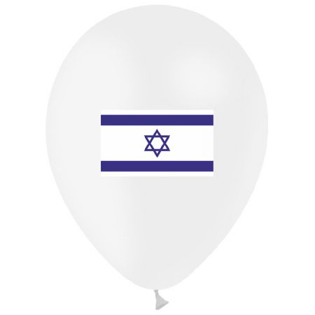 Ballon drapeau Israël (latex)