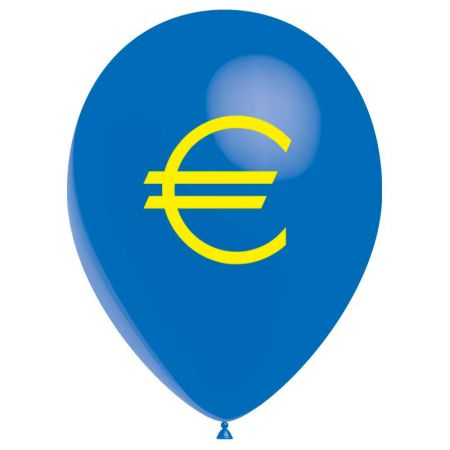Ballon drapeau Euro (latex)