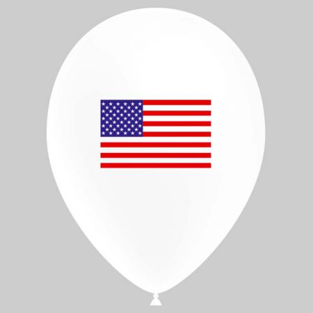 Ballon Latex Drapeau USA