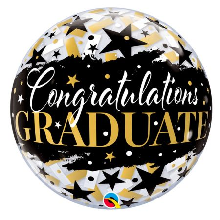 Ballon Bubble Graduate Black