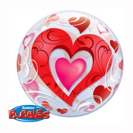 Ballon Bubble Coeur Love