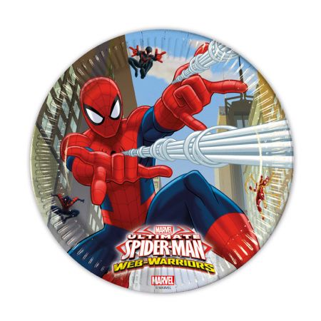 Assiette Spiderman par 8