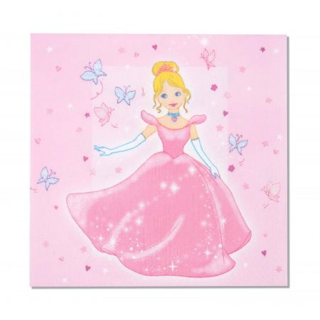Serviette jetable princesse