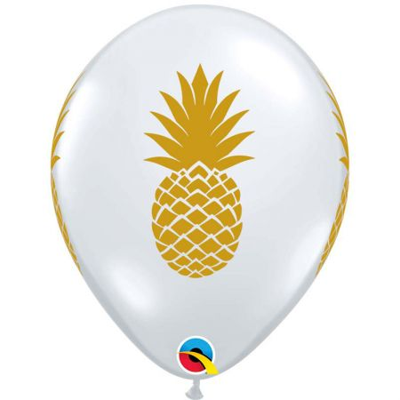 Ballon Latex Ananas Or