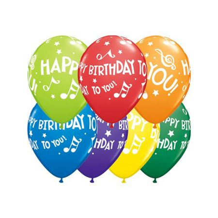 Ballon Happy Birthday to you qualatex assortiment
