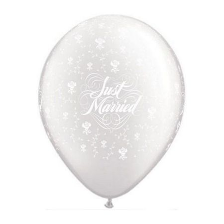 Ballon Just Married White qualatex