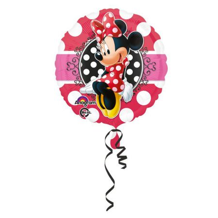 Ballon Minnie Rond Rouge Mylar