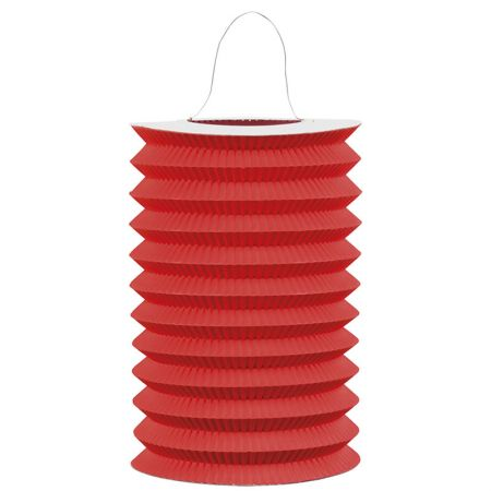 Lampion cylindrique 15cm Rouge