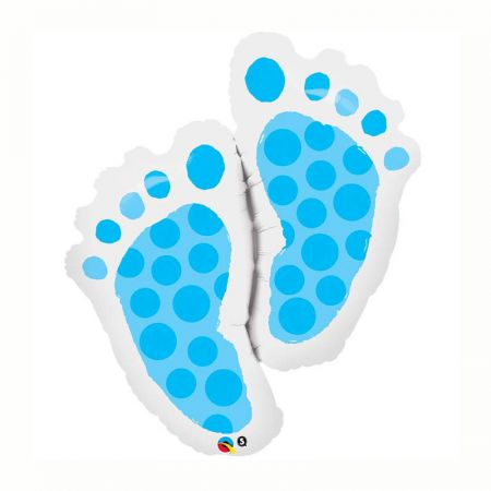 Ballon Baby Feet Blue