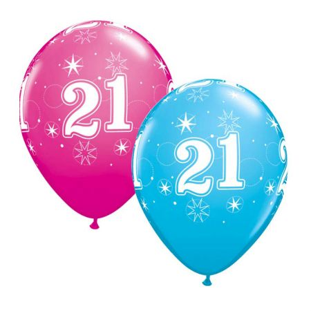 Ballon 21 ans qualatex Eclats