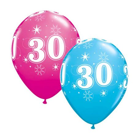 Ballon 30 ans qualatex Eclats