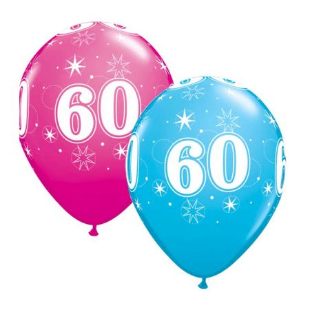 Ballon 60 ans qualatex Eclats