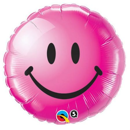 Ballon Smiley Face fushia