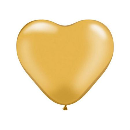 Ballon Coeur Or (Gold)