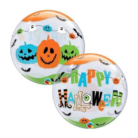 Ballon Bubble Halloween citrouilles