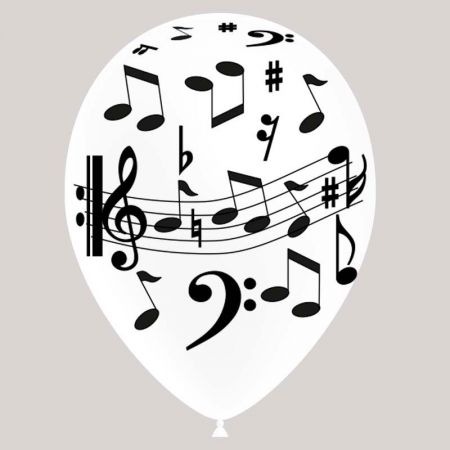 Ballon Notes de Musique Blanc